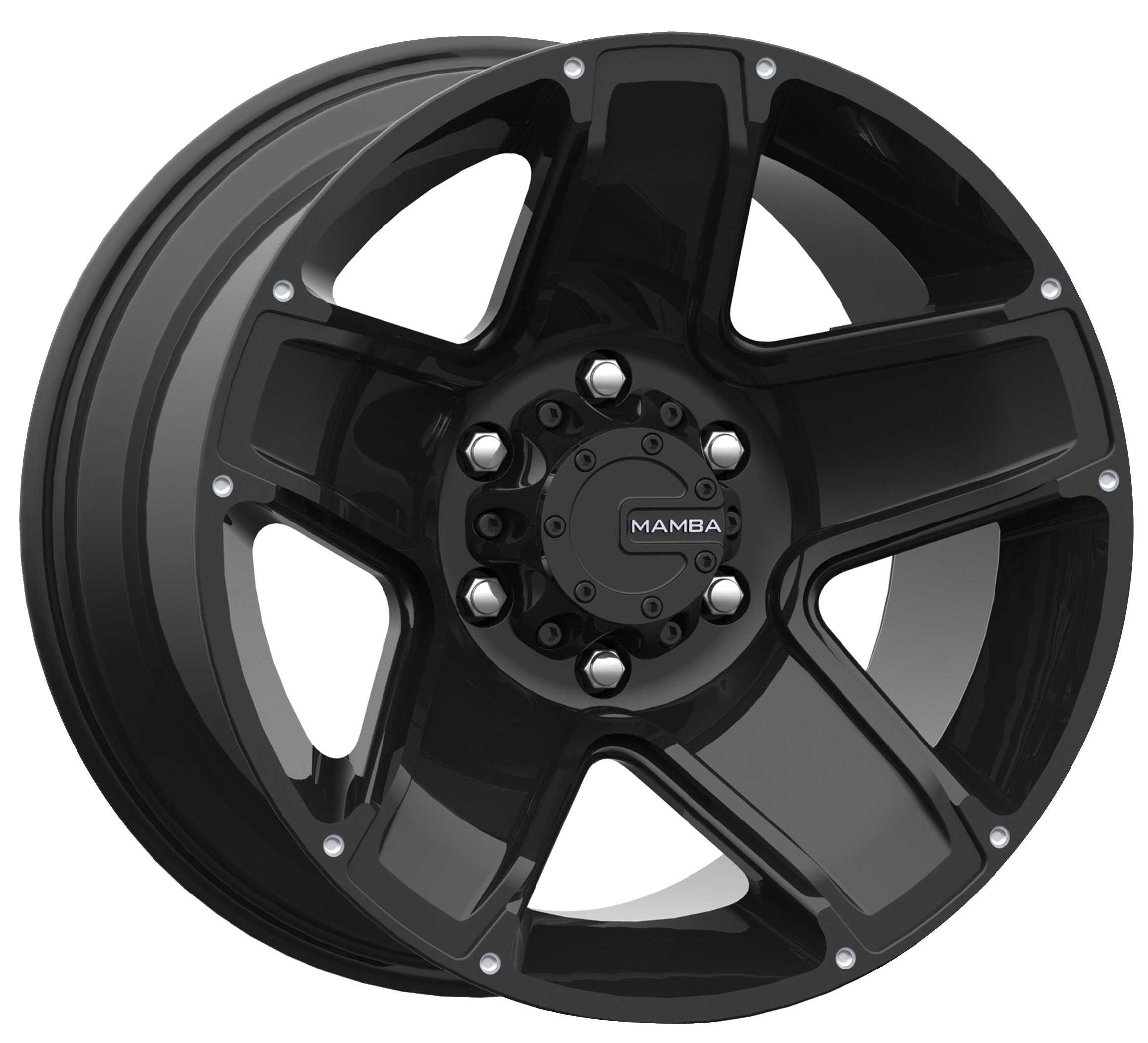 Mamba-M13-Matte-Black-Wheel-17x95x127mm-12mm-offset