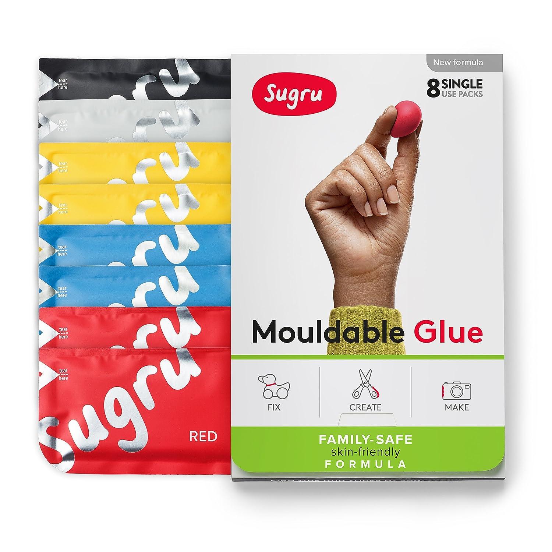 Sugru Mouldable Glue - Family-safe | Skin-friendly Formula - New Colours 8-Pack FormFormForm Ltd I000742