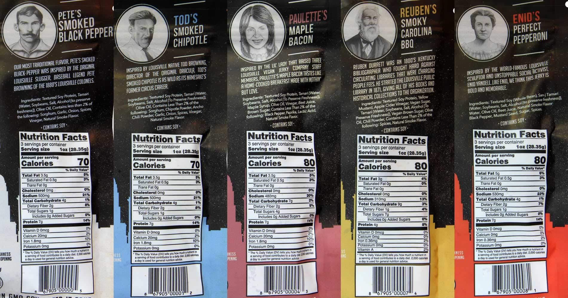 Louisville Vegan Jerky - Variety Pack (Pack of 5) by Louisville Vegan Jerky (Image #2)