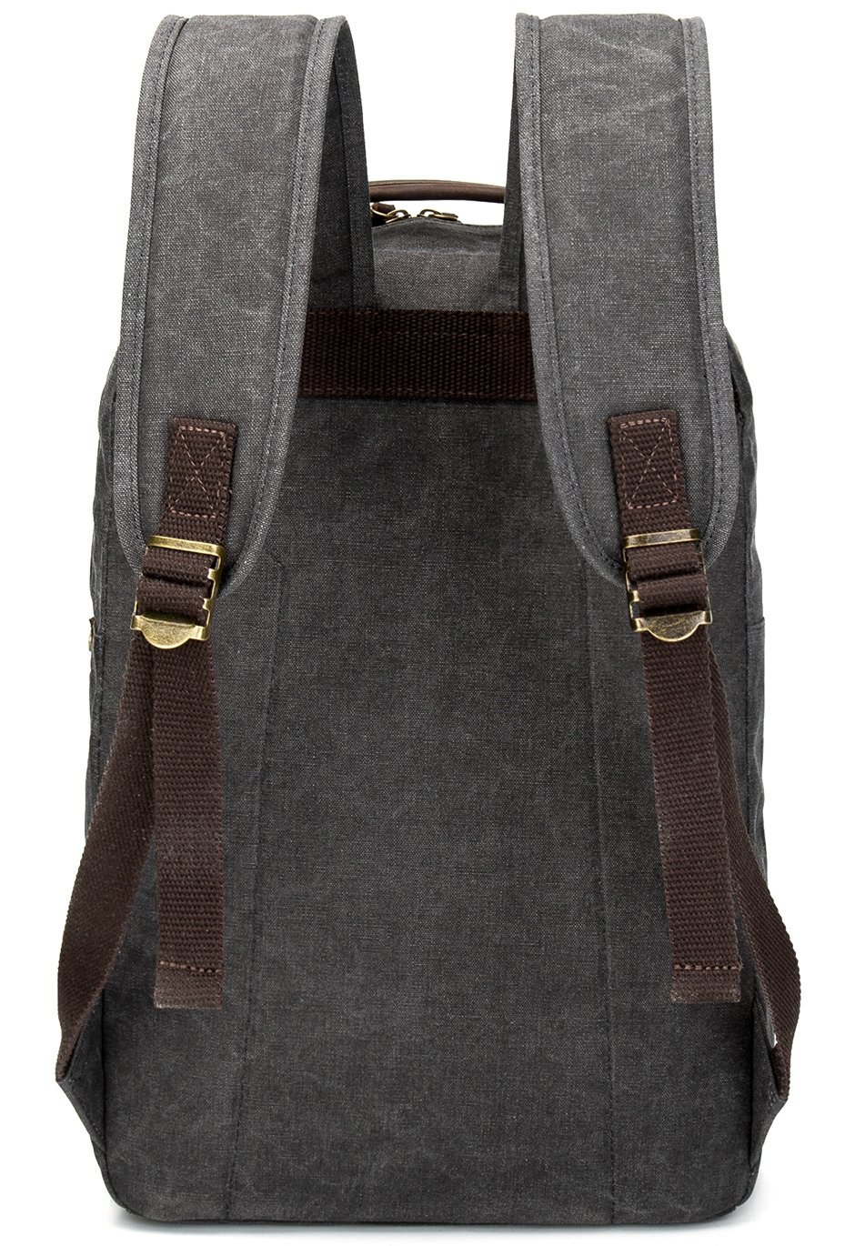 Vintave Waterproof Oil Waxed Canvas Genuine Crazy Horse Leather College Weekend Travel Laptops Backpack Fit to Laptop Up to 15.6 Inch By 1XD GEAR by 1XD GEAR (Image #6)