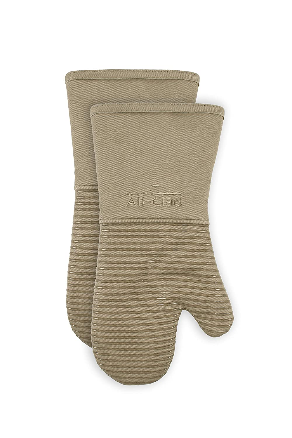 All-Clad Textiles PAC2SOM04 Silicone Oven Mitt, 2 Pack, Mushroom