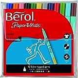 Berol S0672870 - Rotuladores de colores (12 unidades), colores surtidos