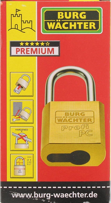 Gris Burg-W/ächter 116 PC 50 Cuerpo de Candado sin Cilindro