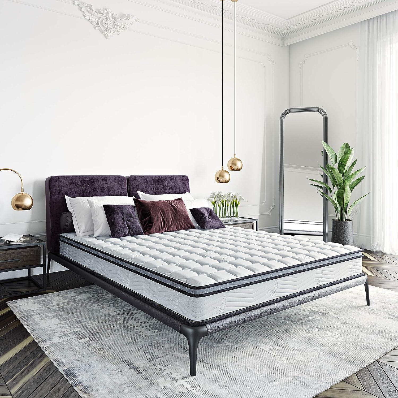 Classic Brands Carleton Bonnel Innerspring Firm 8-Inch Mattress   Bed-in-a-Box Queen