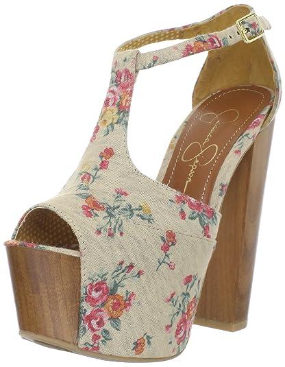 1fc243433ea54 Jessica Simpson Dany de la Mujer Sandalias de Plataforma  Jessica Simpson   Amazon.es  Zapatos y complementos