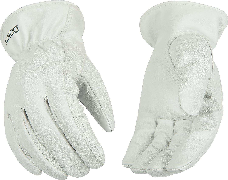 Kinco 92 Unlined Grain Goatskin Leather Drivers Glove, Work, Medium, Gray (Pack of 6 Pairs) by KINCO INTERNATIONAL B00AN7ZM8K