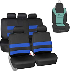 FH Group FB087115 Premium Neoprene Seat Covers (Blue) Full Set with Gift - Universal for Cars Trucks and SUVs