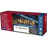 Konstsmide 4602-003 - Distribuidor para guirnaldas led de Navidad (1 entrada y 2 salidas), transparente