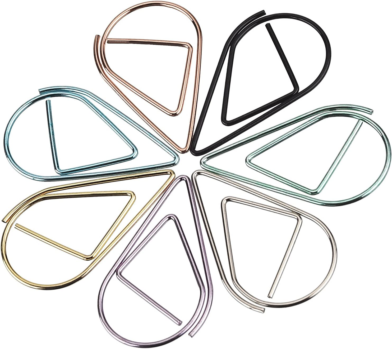 Size A Frienda 105 Pieces Multicolor Paperclips Metal Paper Clips for School Office Supplies