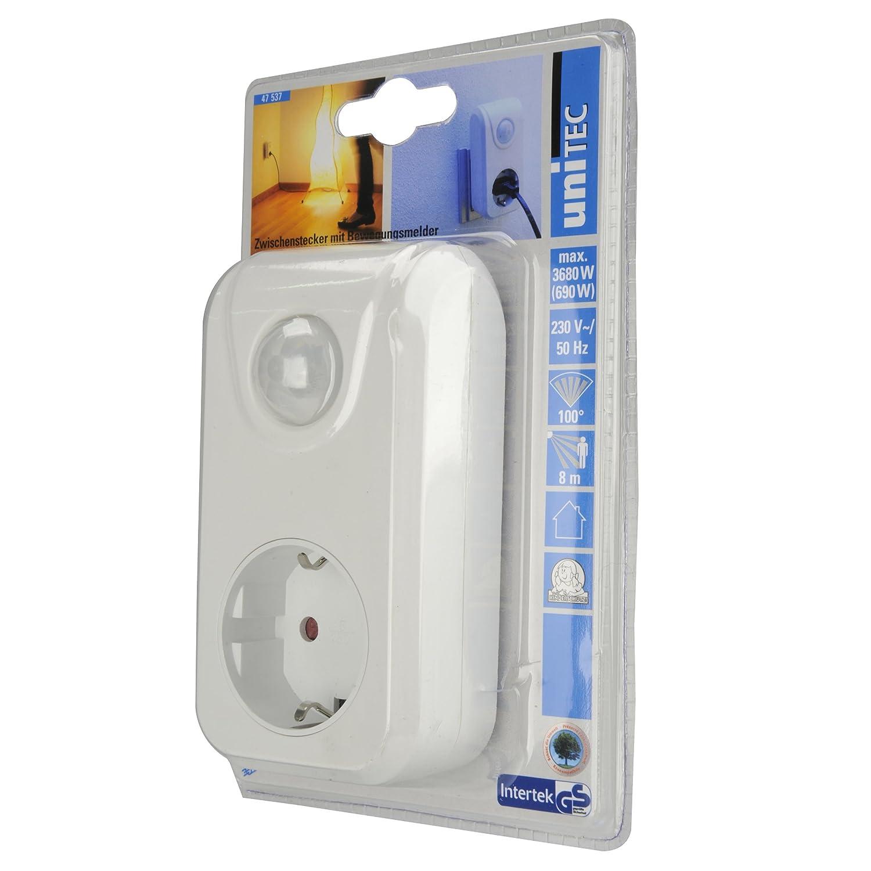 Unitec 47537 - Enchufe con detector de movimiento: Amazon.es: Bricolaje y herramientas