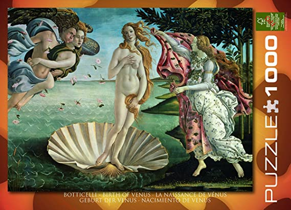 EuroGraphics Birth of Venus by Botticelli 1000 Piece Puzzle Eurographics Toys 6000-5001