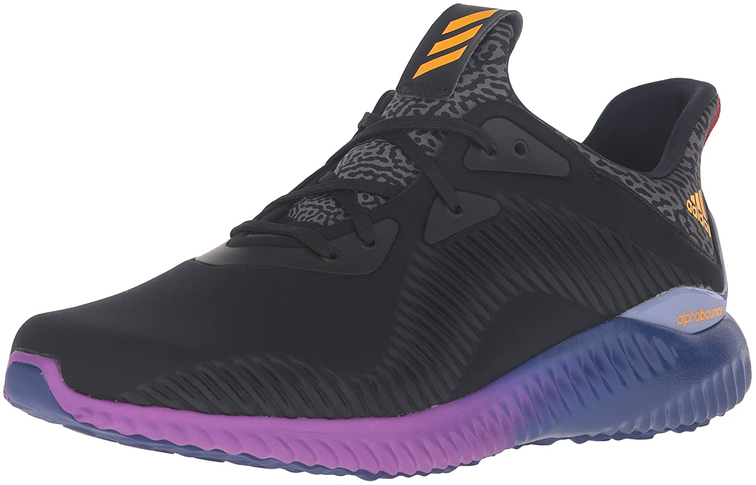 9b9a83c52564e adidas Performance Men s Alphabounce M Running Shoe Black Solar Gold Shock  Purple 10 D(M) US  Buy Online at Low Prices in India - Amazon.in