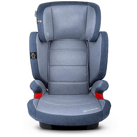 Kinderkraft Silla de coche Junior Fix con Isofix para ni/ño bebe grupo 2//3 hasta 12 a/ños respaldo desmontable 7 posiciones del Reposacabezas Normativa ECE R44//4 Azul marino 15-36 kg