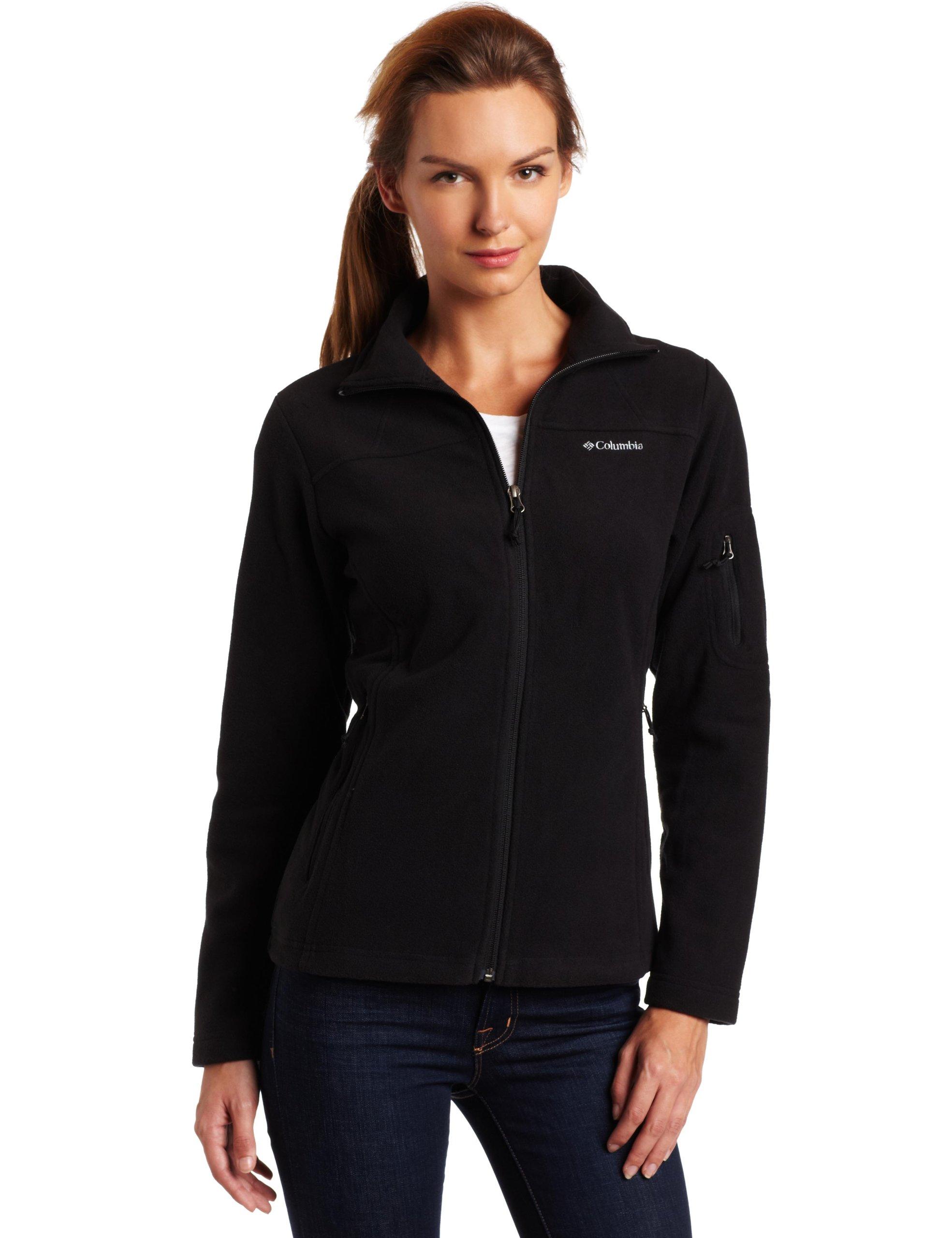 Columbia Women's Fast Trek Ii Full Zip Fleece Jacket Outerwear, black, XS by Columbia (Image #1)