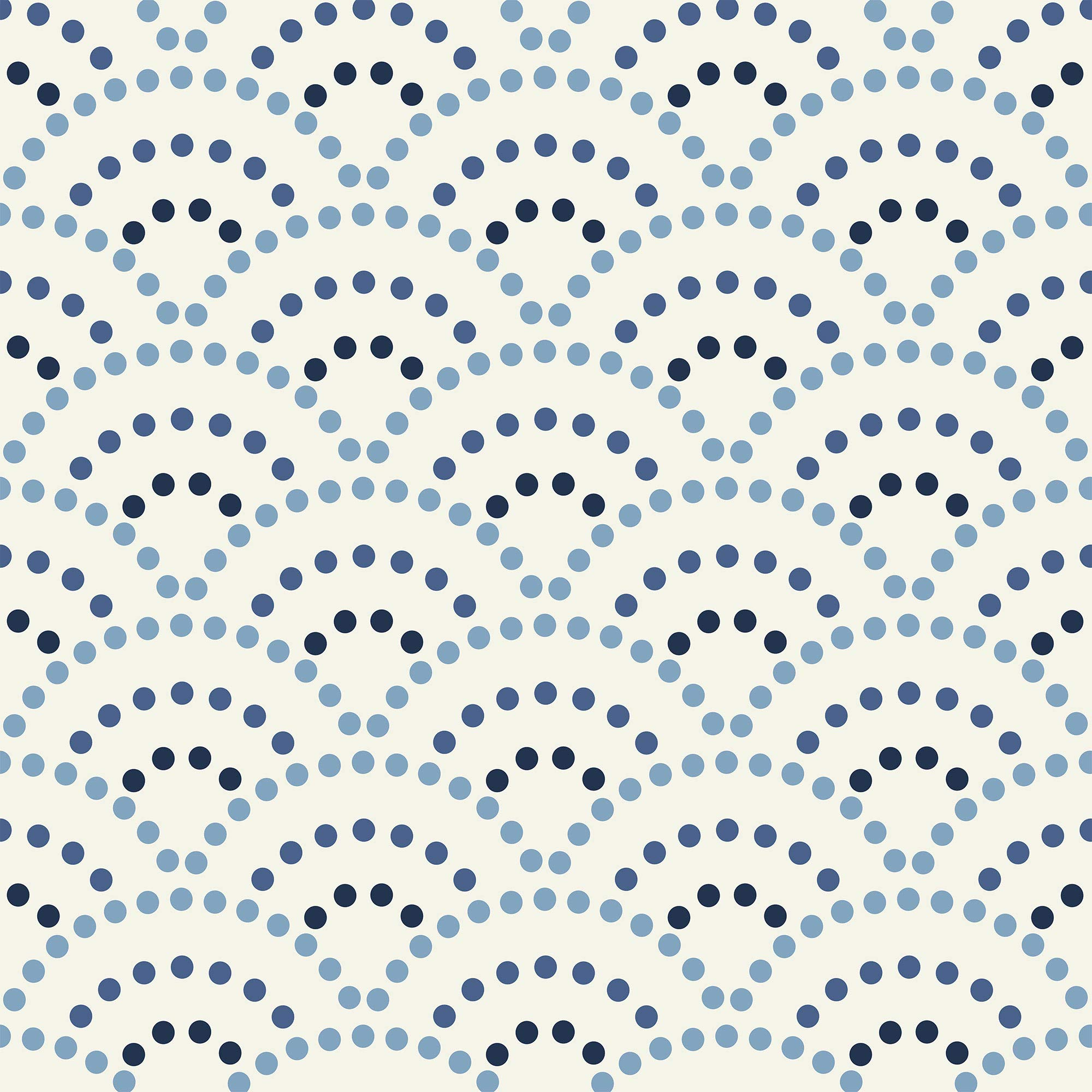 WallsByMe Peel and Stick Navy Circles Geometric Removable Wallpaper 291c - 2ft x 4ft (61x122cm) - WallFab - 7mil