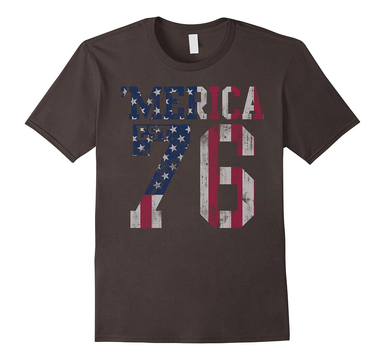 'Merica Patriotic American Flag Est.1776 t shirt-TH