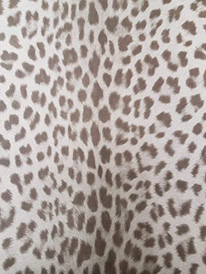 Animal Print Leopard Wallpaper Textured Grey Brown Paste Wall Vinyl Deco 4 Walls