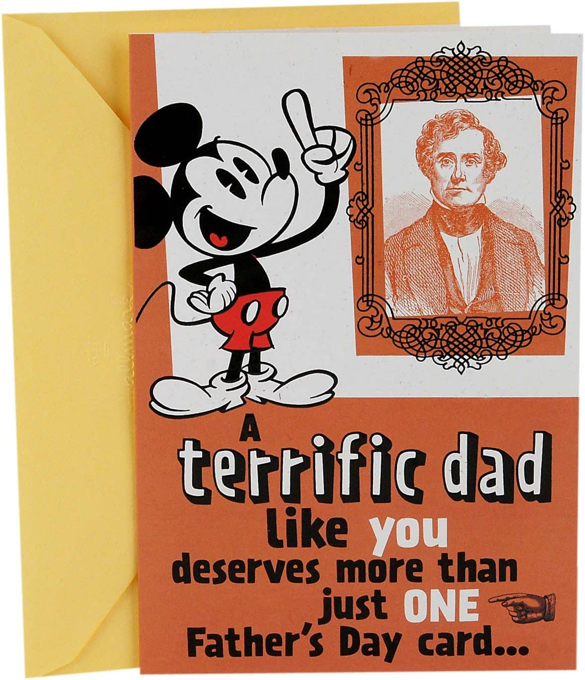 Dad Quilted Fabric Postcard A Fathers Day Greeting Card