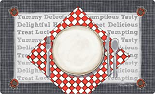 "product image for Drymate Dinner Plate Pet Bowl Place Mat, Silver, Medium/12"" x 20"""