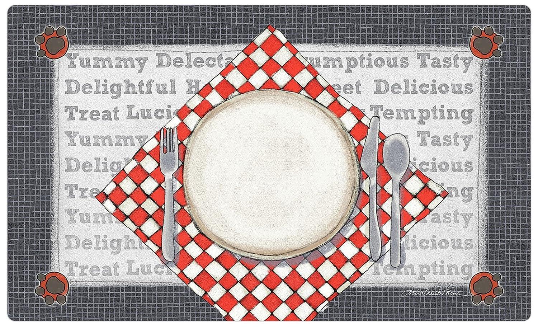 Drymate Dinner Plate Pet Bowl Place Mat, Silver, Medium/12' x 20' Medium/12 x 20 RPM Pets PP1220DP