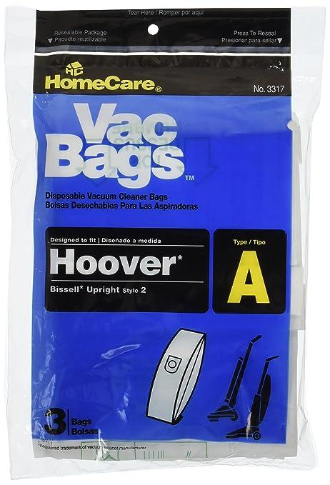 Home Care 18 Hoover bolsas de aspirador vertical un por ...