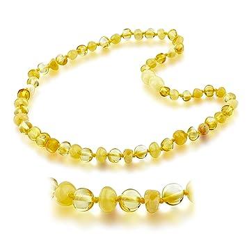 Amazon Com Choker Natural Unisex Raw Baltic Amber Teething Necklace