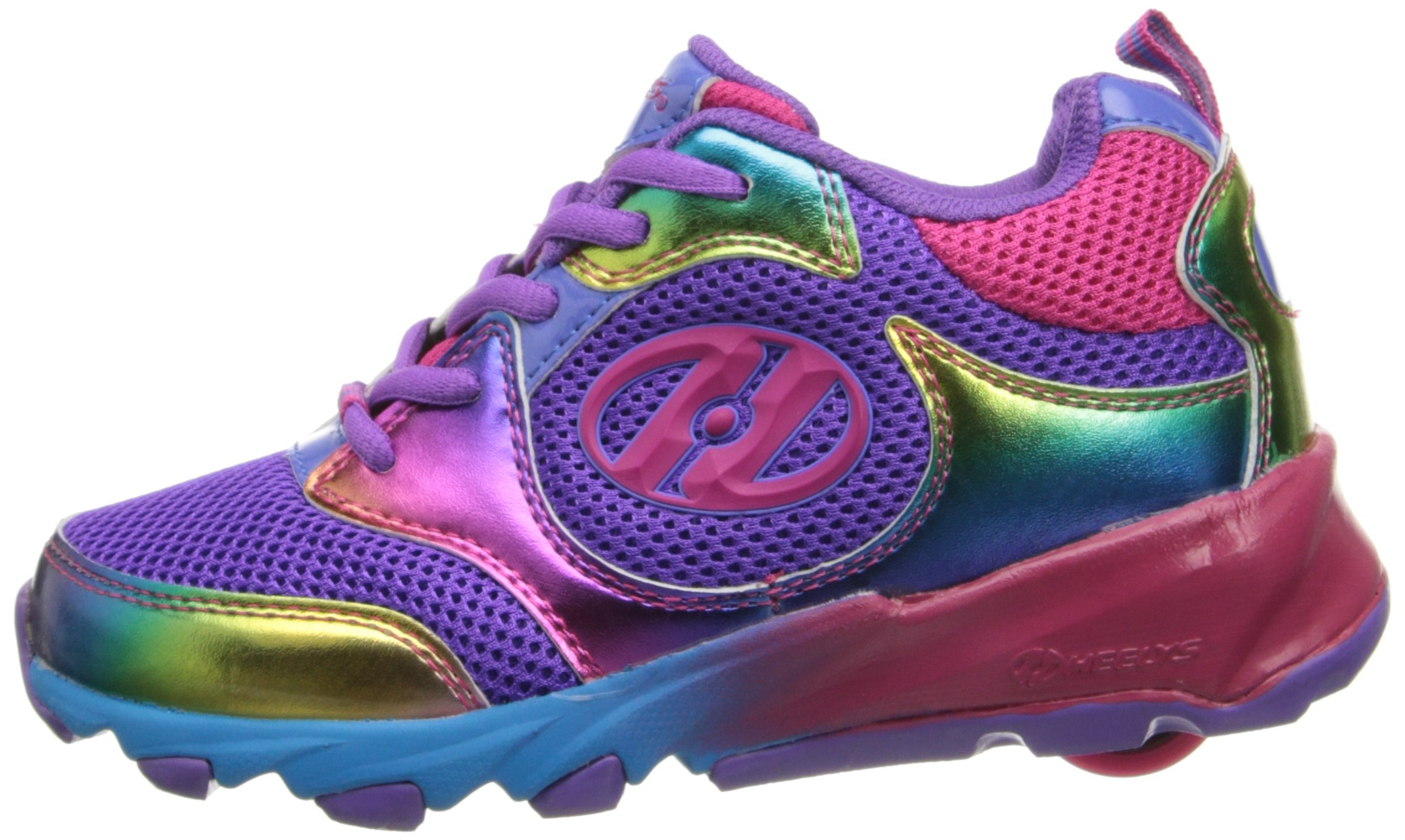 Heelys Race Skate Shoe (Little Kid/Big Kid),Purple/Rainbow,2 M US Little Kid by Heelys (Image #5)