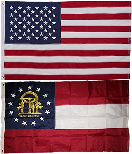 and USA Flag 3x5 EMBROIDERED 2 double sided Flag Wholesale Lot Washington D.C