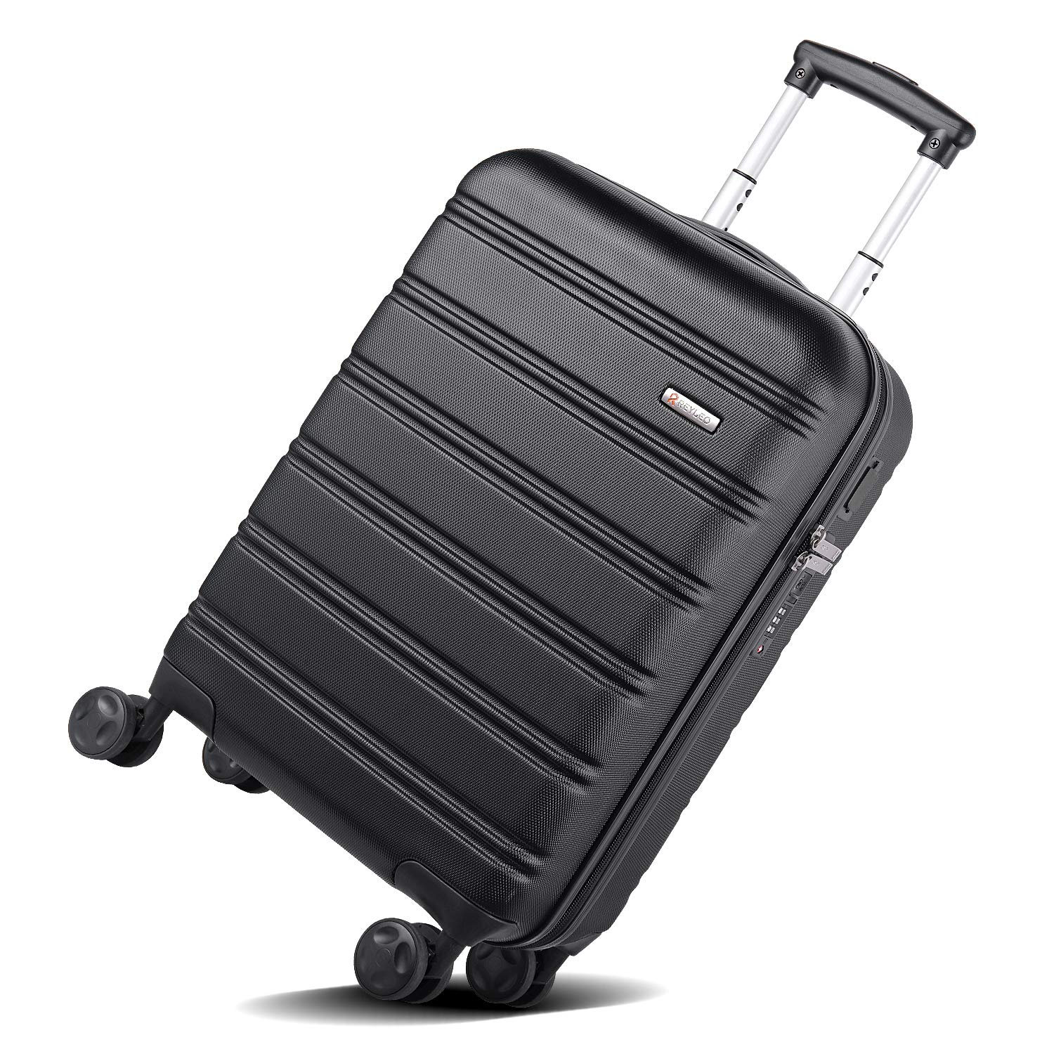 4a130d5d5 REYLEO Hardside Spinner Luggage 20 Inch Carry On Luggage Lightweight Travel  Suitcase with 8 Silent Wheels Two USB Charging Port Built-in TSA Lock,  LUG20A
