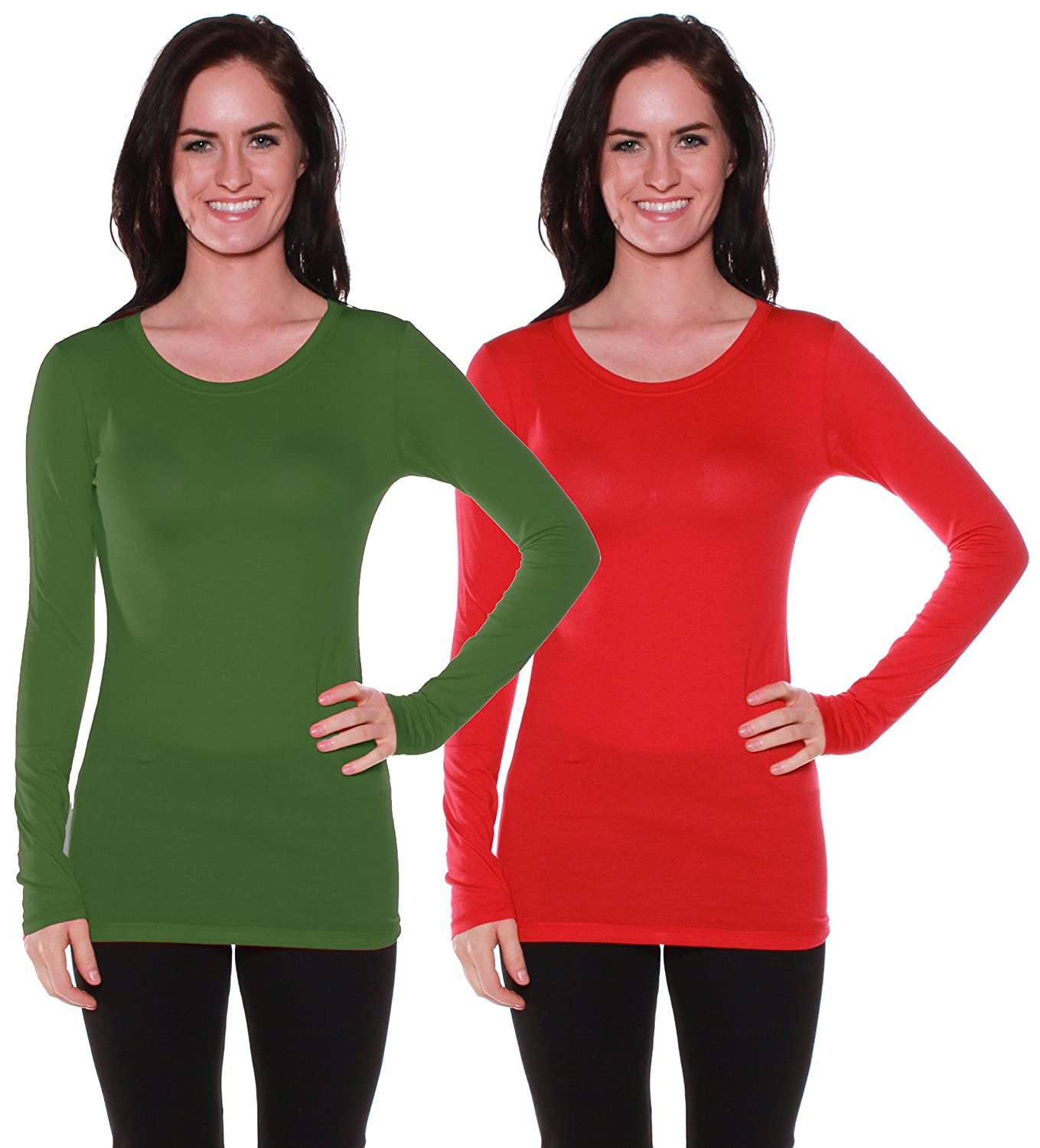 Active Basic Athletic Fitted Plain Long Sleeves Round Crew Neck T Shirt Top