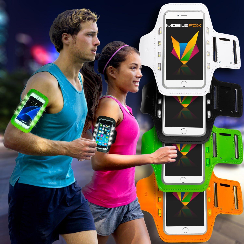 Funda de brazo deportivo para Smartphone Sport Jogging para Samsung Galaxy S7 Edge color negro
