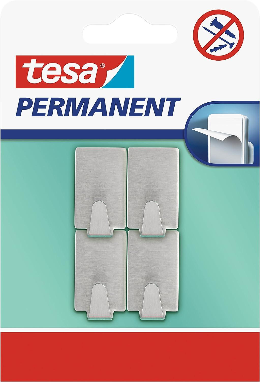 tesa 66612-00000-00 66612-00000-00-Gancho Permanente Rectangular S Metal