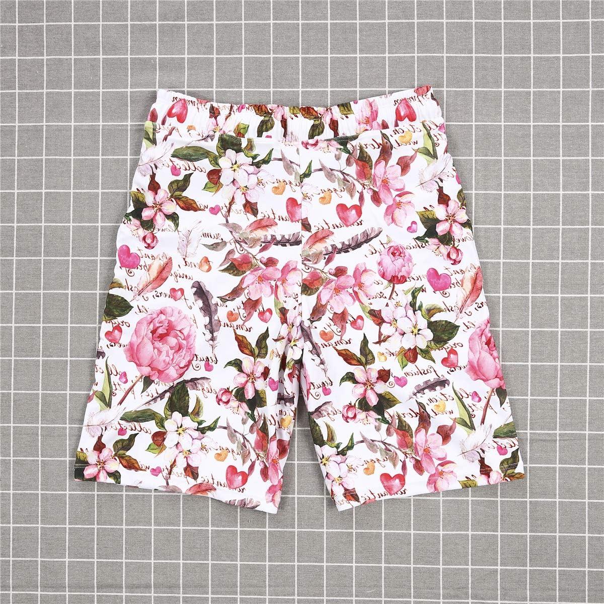 Family Matching Clothing Daddy/&Boy Swimsuit Mommy/&Girl Leaves Flamingo Trunk Off-Shoulder Ruffle Beachwear Bikini Monokini
