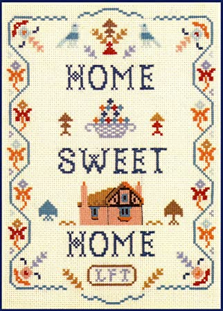 Home Sweet Home Sampler Complete Cross Stitch Kit On 14 Aida With Clear Colour Chart Amazon Co Uk Kitchen Home