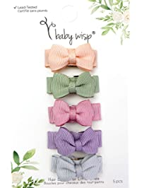 Baby Wisp Small Snap Chic Bows 5 Pack - Watercolours