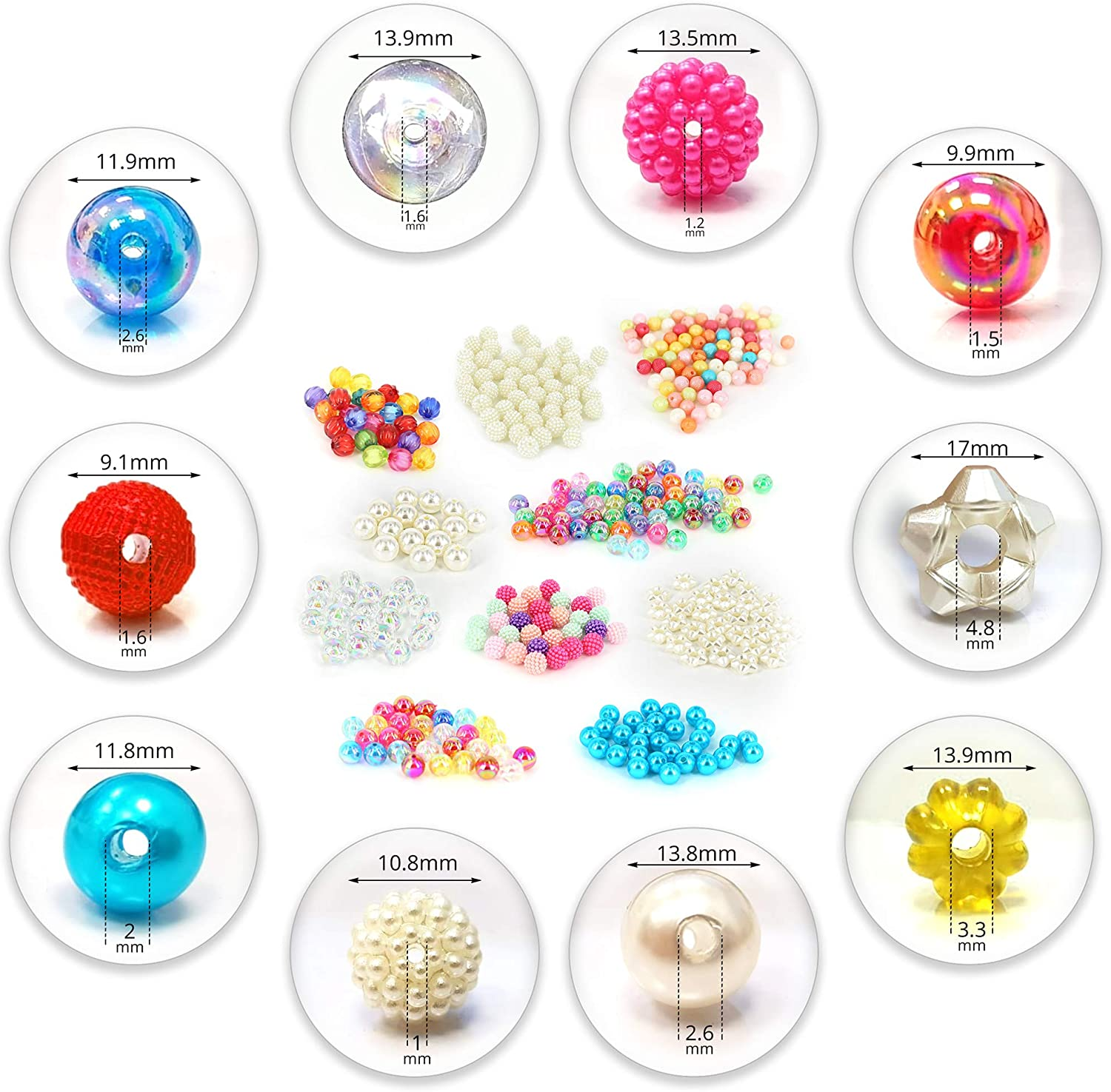 Adults and Kids Jewelry Making Kit PICKME 360pc Assorted Beads for Bracelets Set Best Creative Gift Idea Girls Crafts Ages 8-12 DIY Bracelet Making Kit for Girls with 10 Plastic Beads Designs