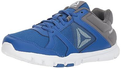 d25275dfec8e Reebok Yourflex Train 10 Sneaker Vital Blue Alloy White 1 M US Little Kid