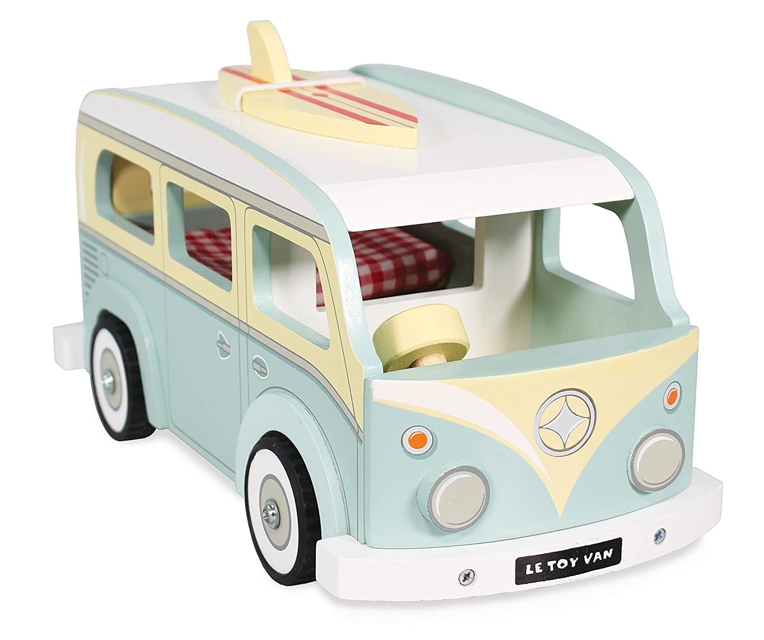 Le Toy Van Daisylane Holiday Campervan Set Premium Wooden Toys for Kids Ages 3 Years /& Up Multi