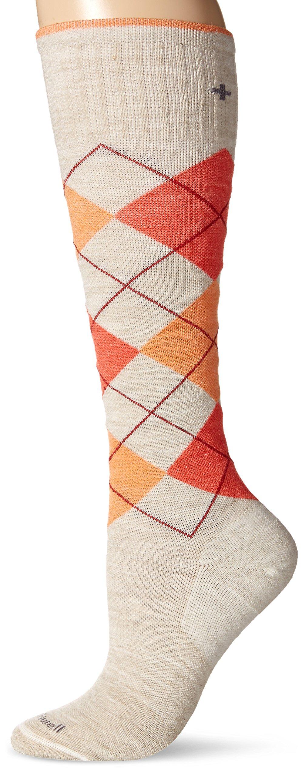 Sockwell Women's Argyle Graduated Compression Socks, Barley, Small/Medium