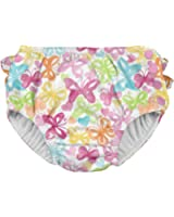 i play. Baby Girls' Ruffle Snap Reusable Absorbent Swim Diaper