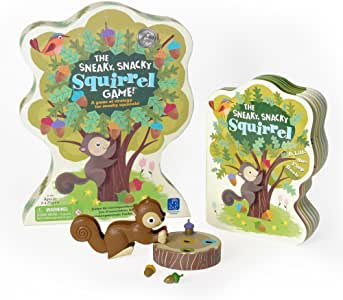 Educational Insights The Sneaky, Snacky Squirrel Game Game and Board Book Combo Multi