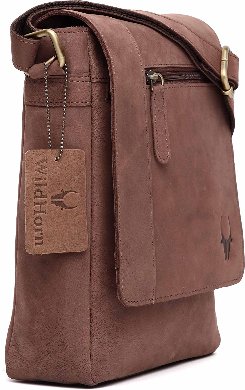 WildHorn Leather 21.59 cms Brown Messenger Bag (MB205 Brown Hunter)   Amazon.in  Bags 6869b631f1fd6