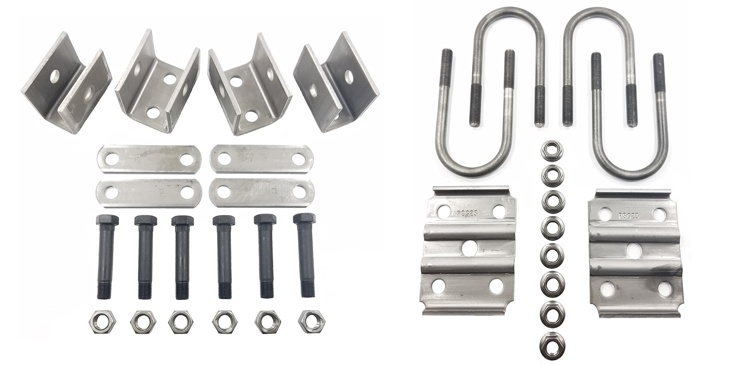 Rockwell American Single Axle Spring Hanger Kit & U-Bolt Kit for 3,500lb Trailer Axle by Rockwell American