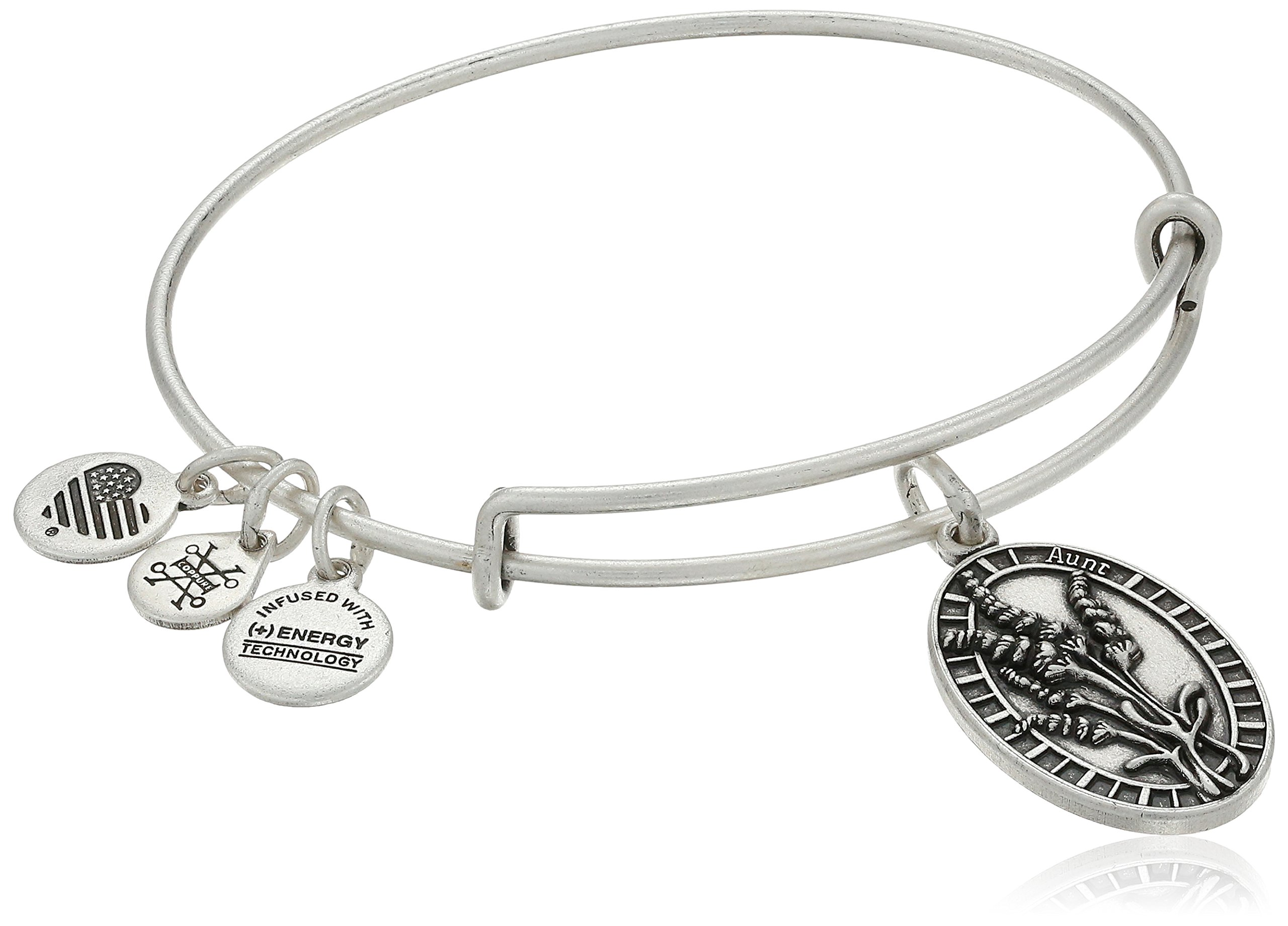 Alex and Ani Aunt Rafaelian Silver Bangle Bracelet
