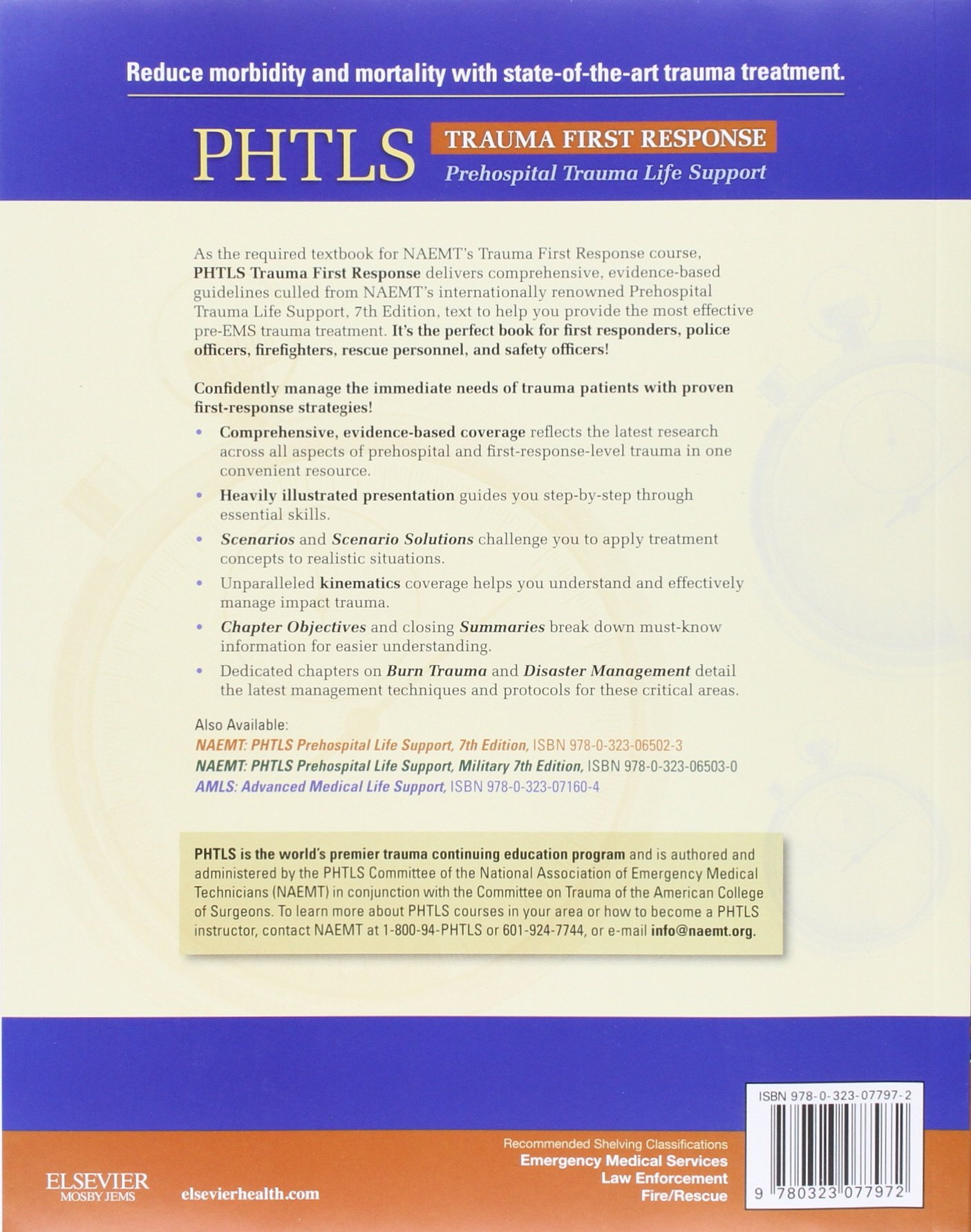 Buy PHTLS Trauma First Response Book Online at Low Prices in India