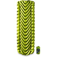 Klymit Static V2 Sleeping Pad, Ultralight, (12% Lighter), Great for Camping, Hiking, Travel and Backpacking, Green