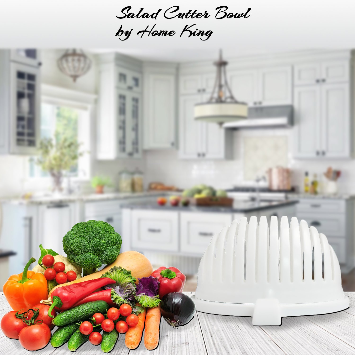 Amazon.com | Salad Mixing Bowl by Home King | 60 Seconds Vegetable ...