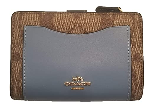 813f34809c84 Image Unavailable. Image not available for. Color  COACH Colorblock Medium  Corner Zip Wallet