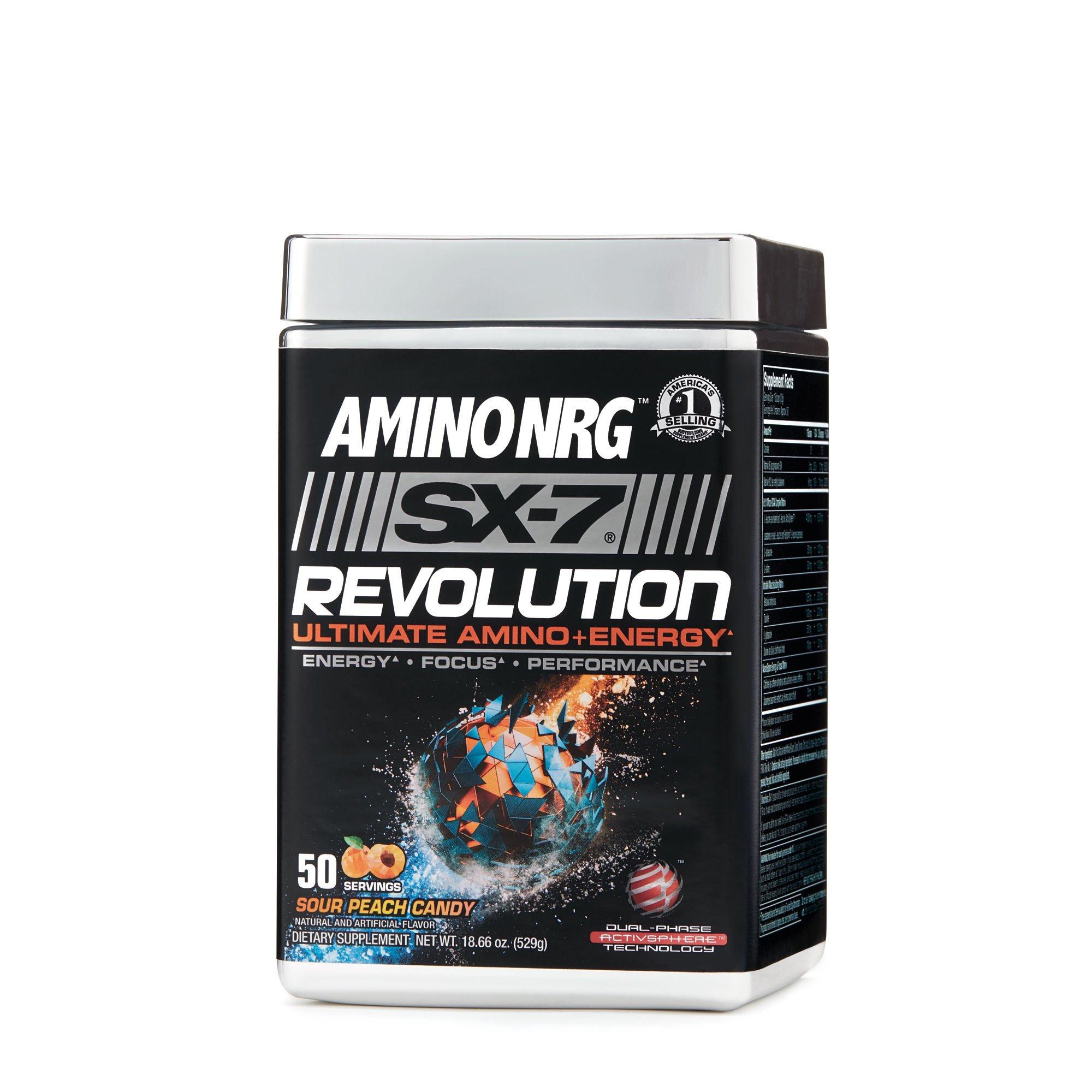MuscleTech Amino NRG SX-7 Revolution - Sour Peach Candy