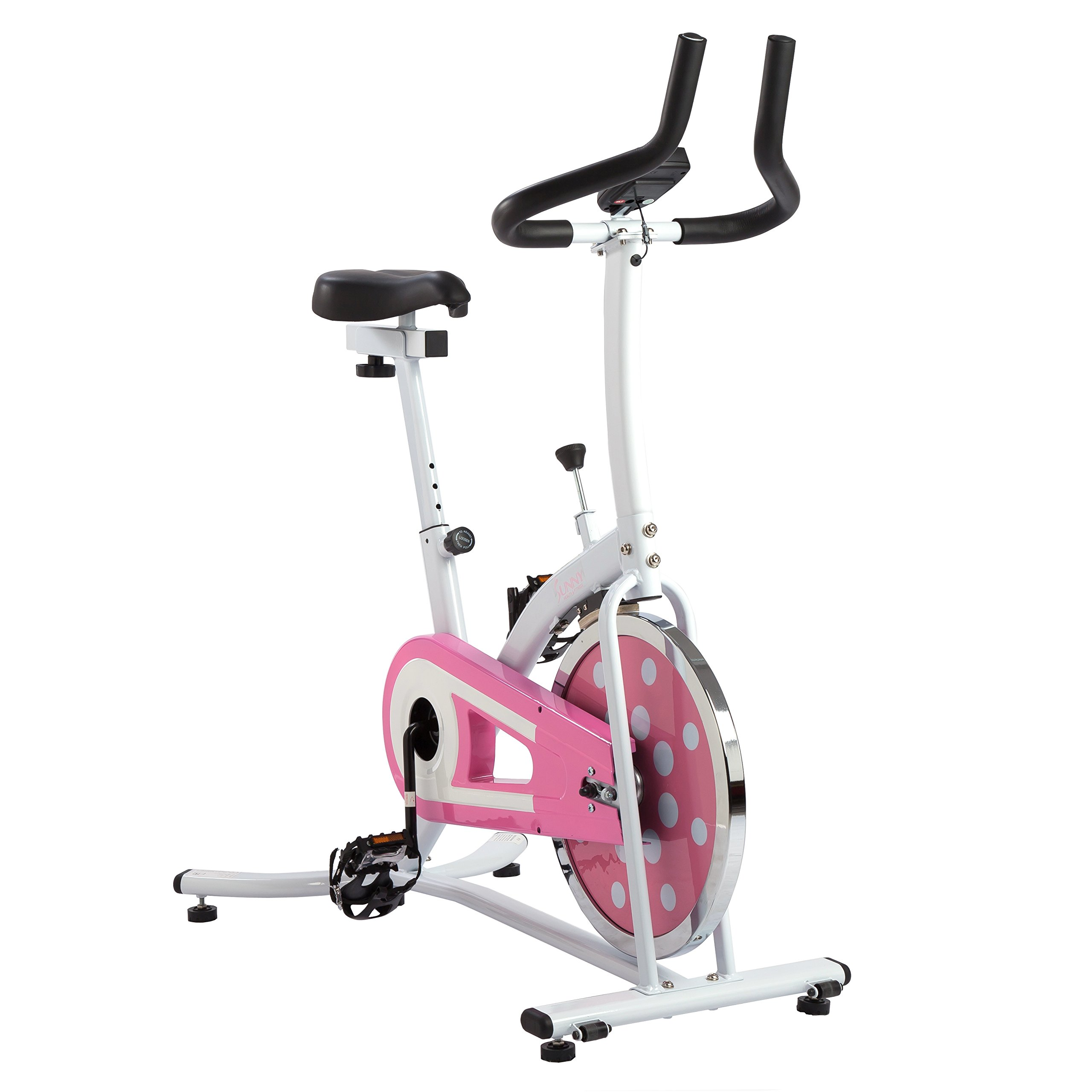 Sunny Health and Fitness Indoor Cycling Bike (Pink) by Sunny Health & Fitness